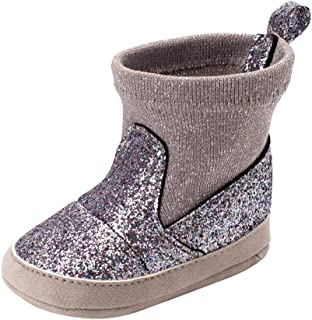 Weixinbuy Toddler Boys Girls Faux Fur Soft Sole Winter Warm Anti-Slip Snow Boots Baby Shoes