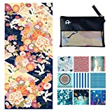 Elite Trend Microfiber Beach Towel for Travel - Oversized XL 78x35,72x72,63x31,71x31Inch Quick Drying, Lightweight, Fast Dry Towels, Sand Free (Kimono Gold, Extra Large (78X35-INCH))