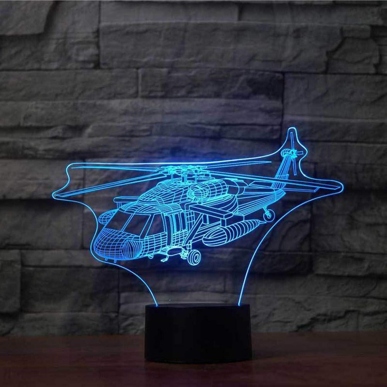 Zyue 3D Nachtlicht Led Remote Touch Switch 7 Farbwechsel Flugzeug Indoor 3D Lampe Als Geschenk des Kindes,Blautooth Stereo