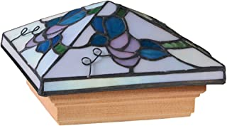 Deckorators 72438 Tiffany Style California Grape Post Cap with Treated Base