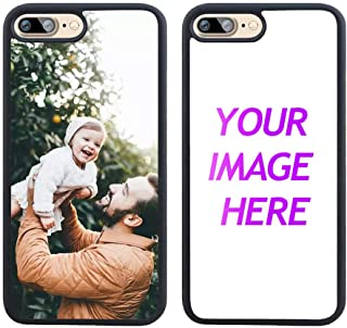 Customized Case for iPhone 7 Plus 8 Plus Personalized Custom Picture Phone Case Customizable Slim Soft and Hard Tire Shockproof Protective Phone Cover Case Make Your Own Phone Case
