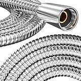 PRISMA Edelstahl Brauseschlauch 160cm mit doppeltem Verdrehschutz MADE IN GERMANY - Duschschlauch Extrem flexibel, verdrehsicher, mit Knickschutz. Metallschlauch mit Drehwirbel