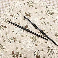 銀製の箸、寿司箸、食器、快適な箸、レストランの家庭に便利な高品質(Black and silver)