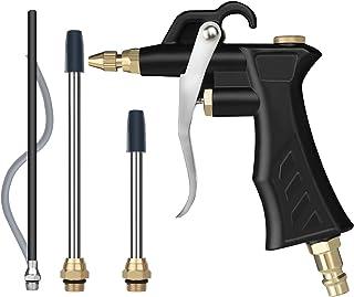 Tryckluftspistol, luftpistol med 4 munstycken och BSP, europeisk stil, snabbkoppling, tryckluft tillbehör, högtryck sprutp...
