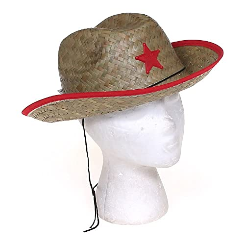 6aa39ffb336 Kids Straw Cowboy Sheriff Hat w Star (2 Pack)