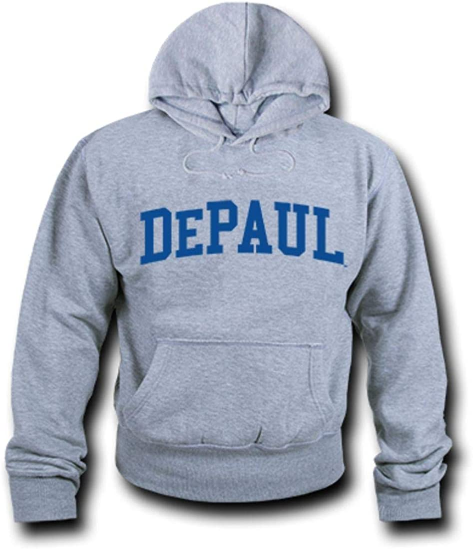 DePaul University Game Day Hoodie Sweatshirt Heather Grey