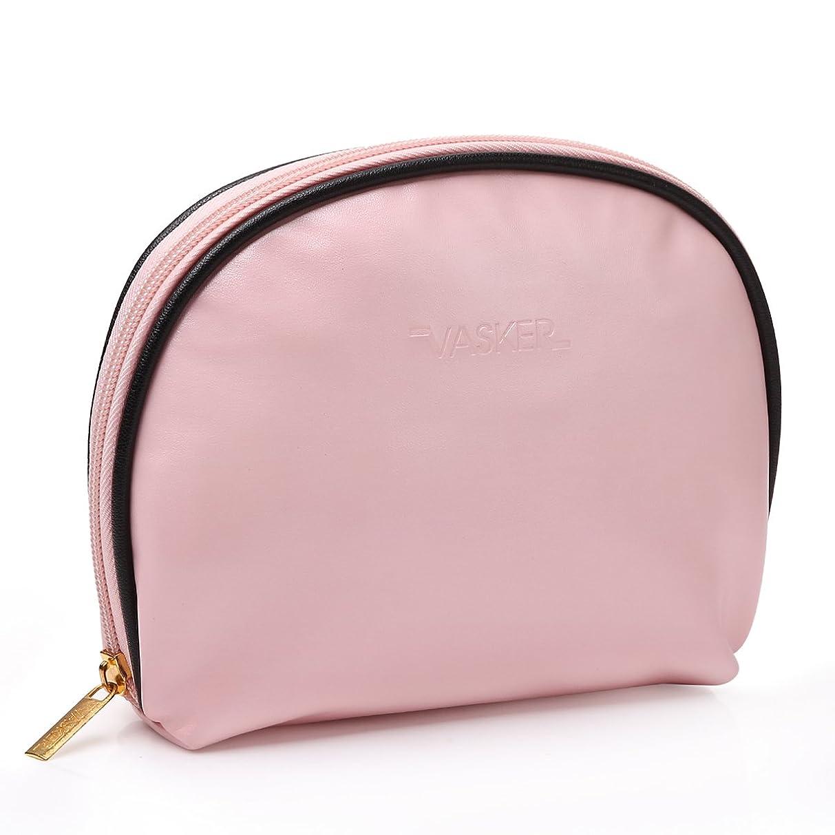 夫婦ルール不忠VASKER 化粧ポーチ メイクアップバッグ 高品質 小物入れ レディース用 出張 旅行 ピンク