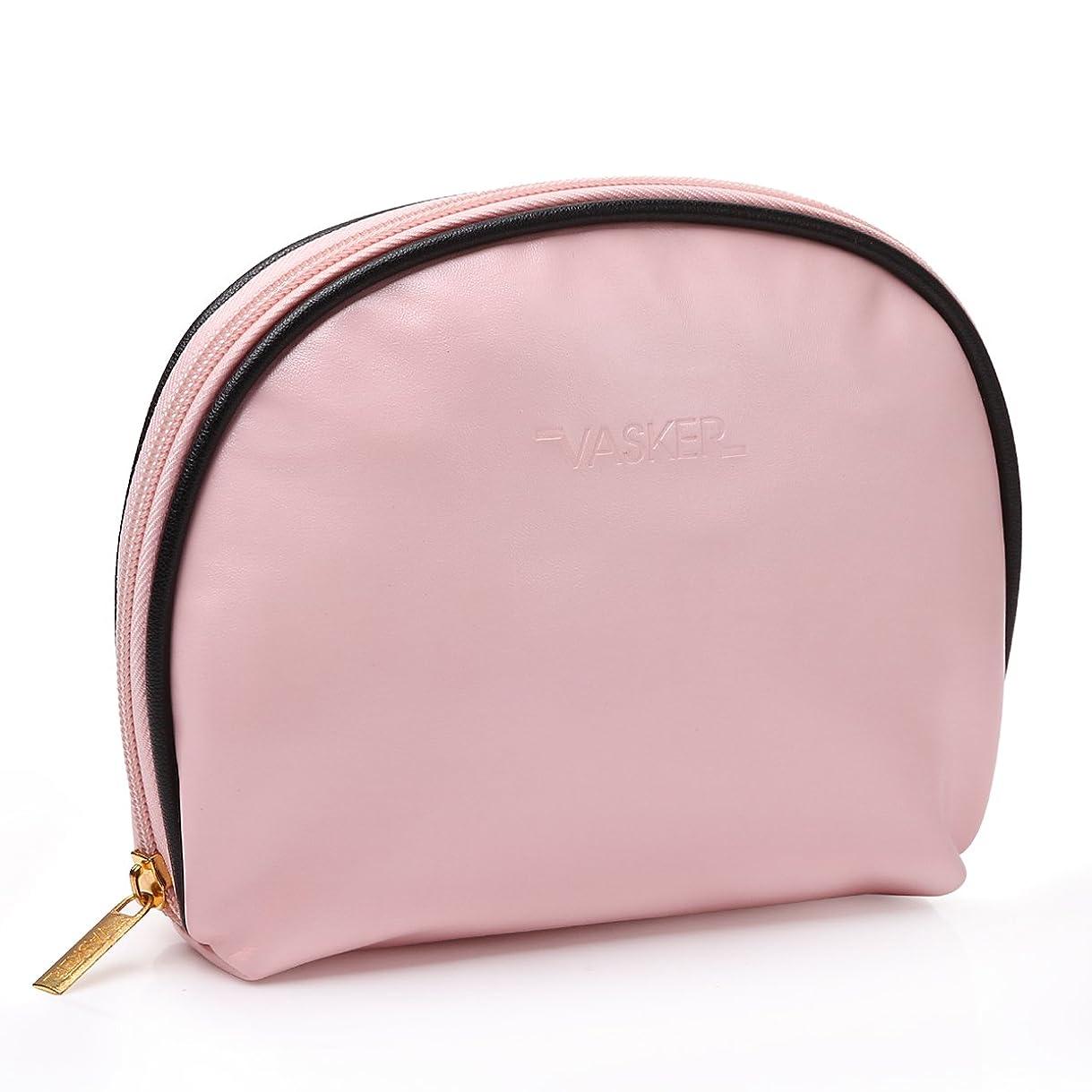 統計的と闘う大洪水VASKER メイクアップバッグ 化粧ポーチ 高品質 小物入れ レディース用 ピンク