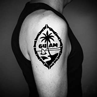 Chamorro Temporary Fake Tattoo Sticker (Set of 2) - www.ohmytat.com