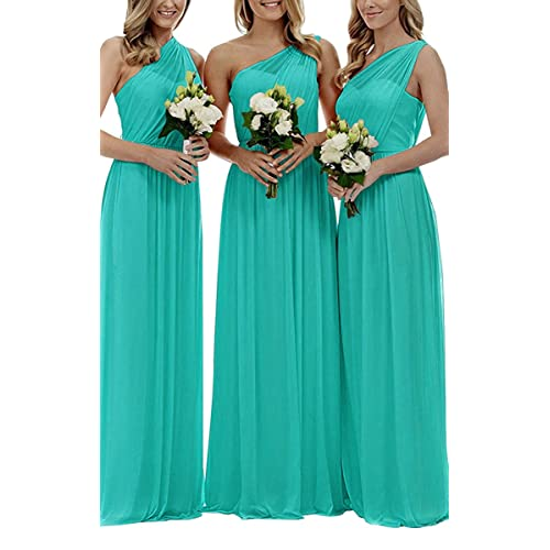 ce9056de0e22a Staypretty Bridesmaid Dresses for Women Long One Shoulder Asymmetric  Chiffon Prom Evening Gown