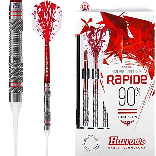 HARROWS Rapide Darts–Tipp–Stil B gerändelt–16G–mit Darts Ecke gebogen Kugelschreiber