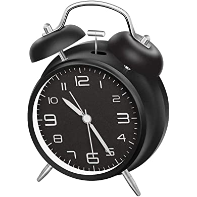 vitutech Despertador Retro, Alarma de Doble Campana con luz