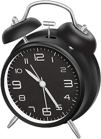LATEC Reloj Despertador de Doble Campana con luz Nocturna,