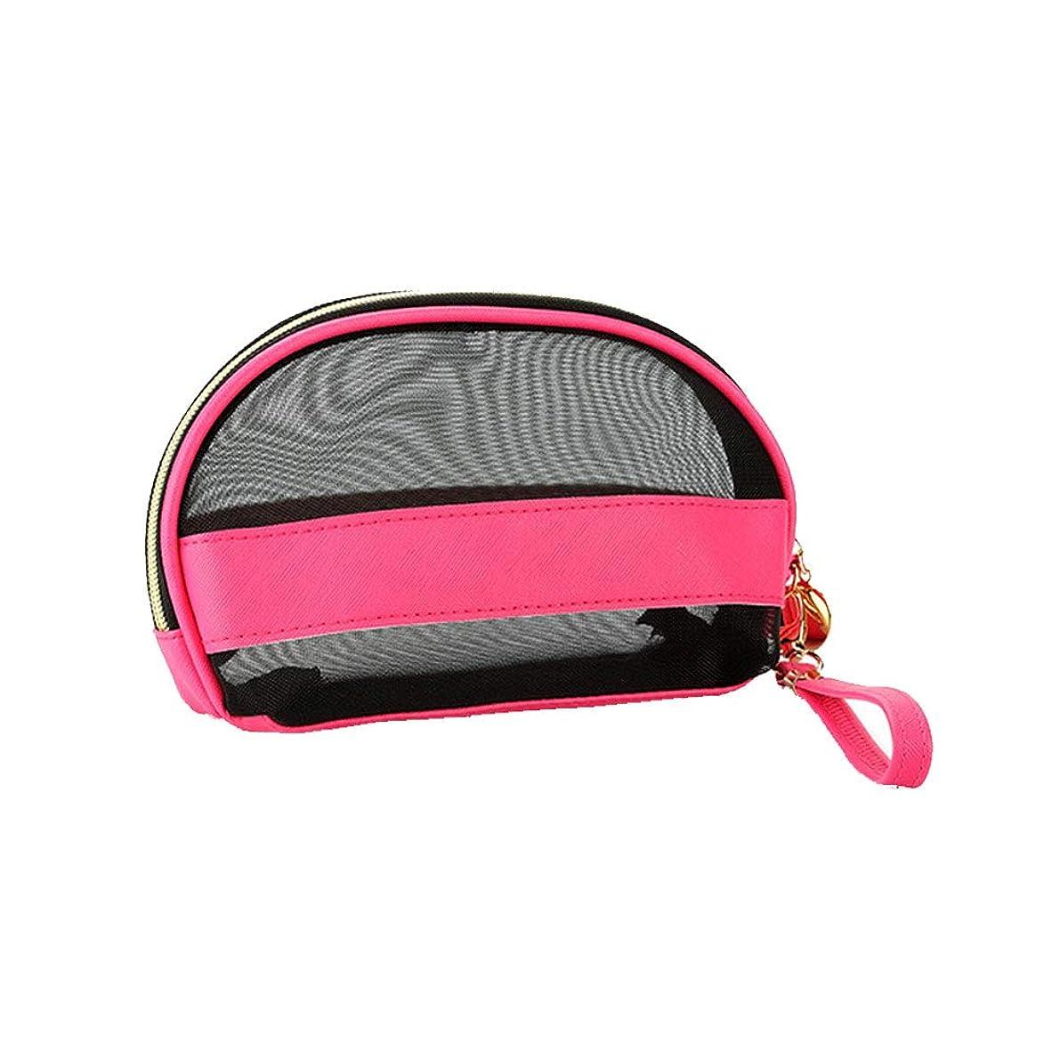 アボート魅力汚れる女の子の化粧品袋の女性はメッシュ化粧品袋化粧オーガナイザーバッグ旅行ロッシを通して見ます