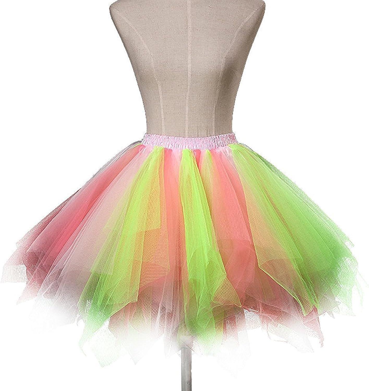 SecretCastle Women's 1950s Vintage Ballet Bubble Skirt Tutu Petticoat