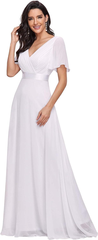 Ever-Pretty Women's Short Sleeve V-Neck Long Evening Dress 09890