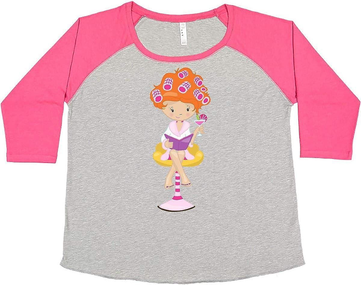 inktastic Sales results No. 1 Cute Girl Orange Hair Women's Beauty P Superlatite Rollers