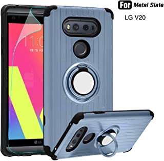 LG V20 Case - Atump 360 Degree Rotating Ring Holder Kickstand Rugged Armor Case with Built-in Screen Protector and Kickstand Shock Absorption Cases for LG V20 Metal State