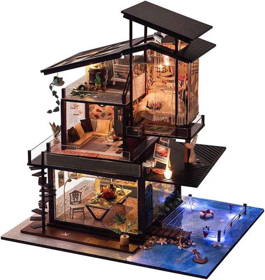 AHWZ DIY Cottage Doll House Kit Miniature Tulsa Mall W 25% OFF Handmade