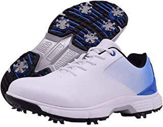 Thestron Men Golf Shoes Professional Waterproof Spikes Golf Sport Sneakers