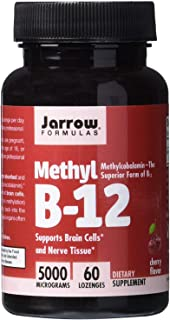 Jarrow Formulas Methylcobalamin (Methyl B12), Supports Brain Cells, 5000 mcg,