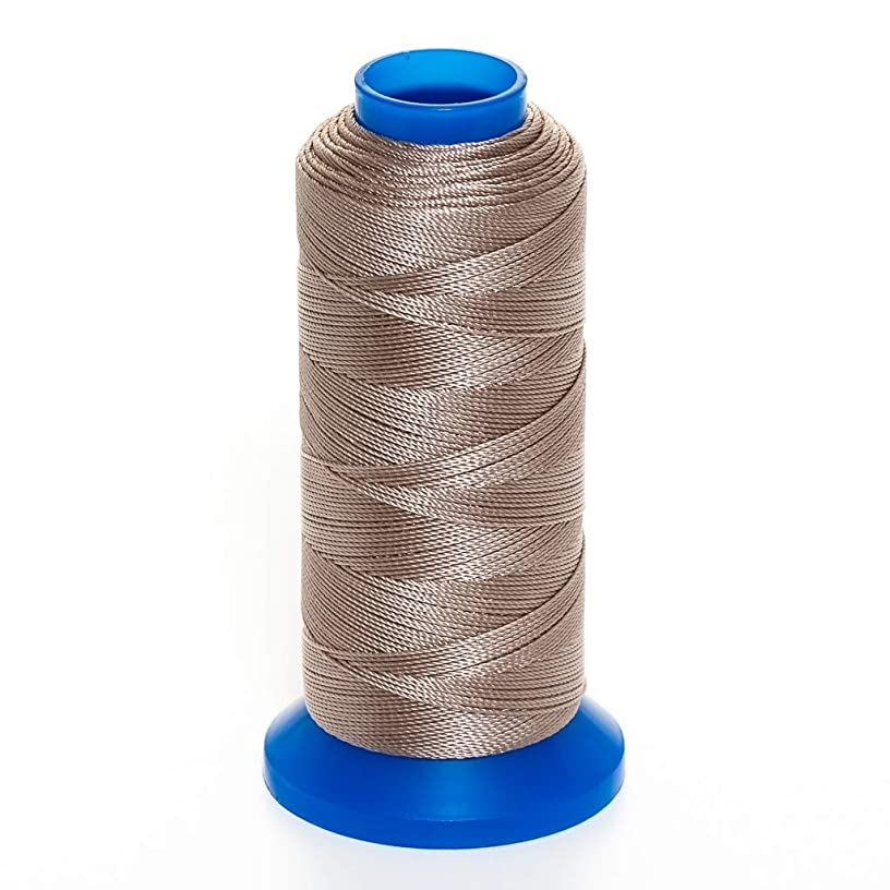 GRIFFIN Jewelry Nylon Bead Cord Spool For Stringing Pearls and Beads, No Stretch, Soft & Smooth, For Professional Jewelry Makers (Beige JN4 Cord Dia. 0.5 mm (.020