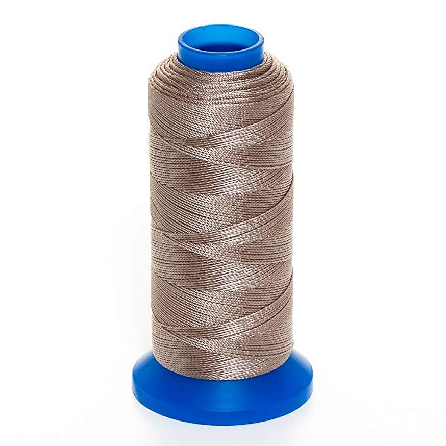 GRIFFIN Jewelry Nylon Bead Cord Spool For Stringing Pearls and Beads, No Stretch, Soft & Smooth, For Professional Jewelry Makers (Beige JN2 Cord Dia. 0.3 mm (.012