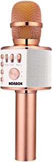 BONAOK Wireless Bluetooth Karaoke Microphone,3-in-1 Portable Handheld Karaoke Mic Speaker Machine Christmas Birthday Home ...