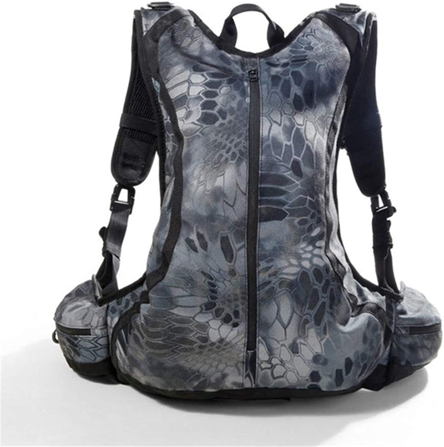 20L Outdoor Waterproof Riding Mountaineering Bag Python Pattern Camouflage Backpack Back Armor Type Hunting Backpack