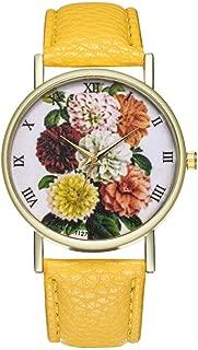 Ladies Wrist Watches on Clearance,Female Watch for Small Wrist,Dress Watch,Roman Numerals Watch Women Bracelet Watch (Yellow)