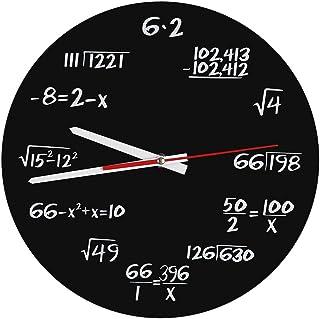 Zerodis Acryl Wanduhr kreative Mathe Wanduhr einzigartiger E