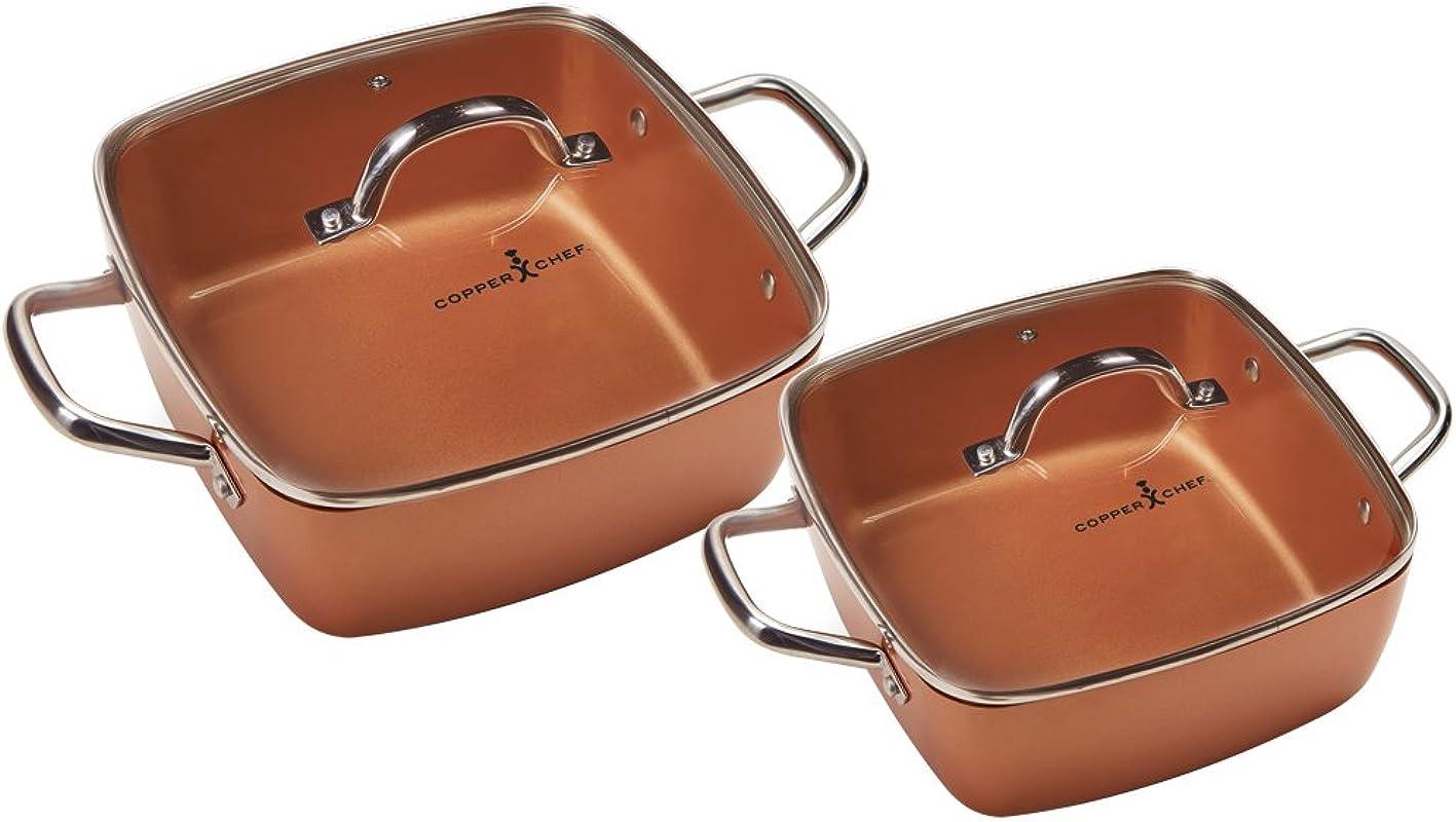 Copper Chef 8 11 Deep Dish Pan 4 Pc Set