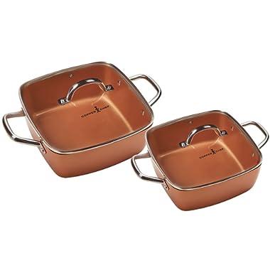 Copper Chef 4-Piece Deep Casserole Pan Set (8 , 12 )