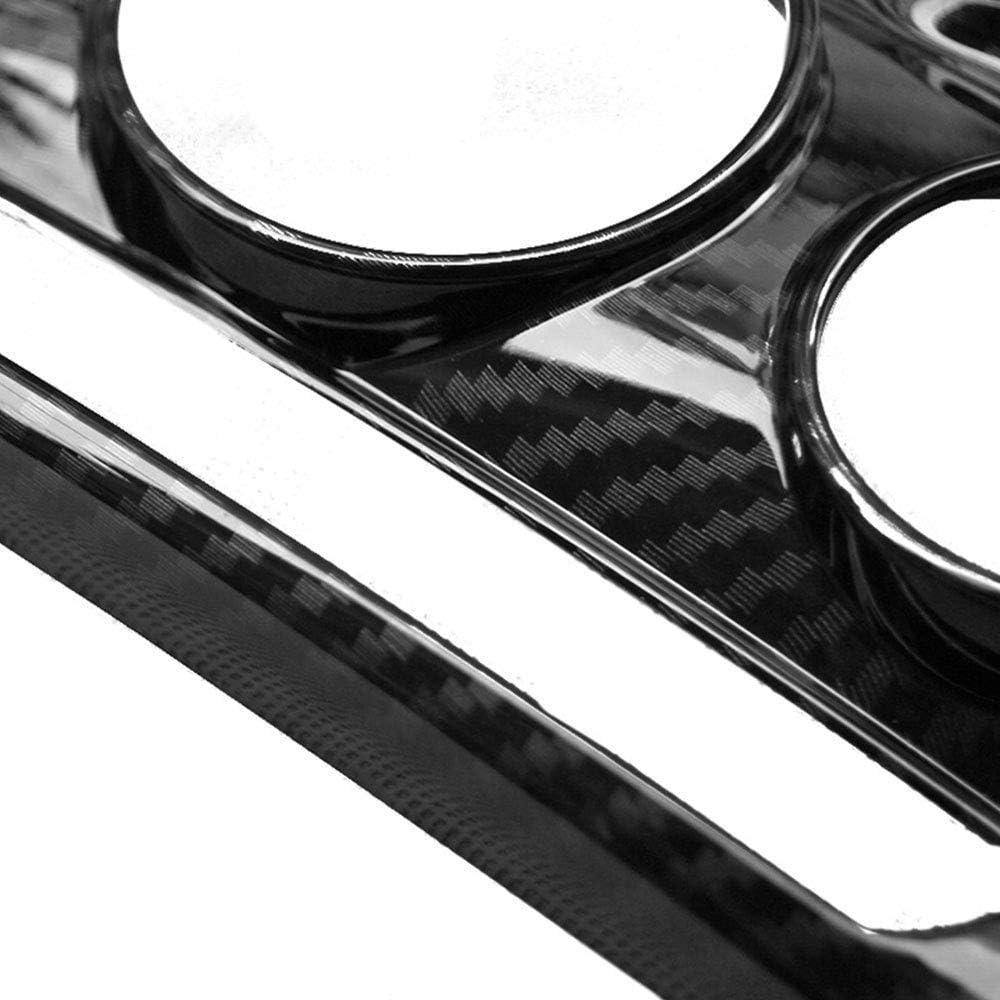 XYWD D/écoration Panneau Console Centrale Voiture et Garniture Couvercle de Cadre commutateur de climatisation pour BMW Mini Cooper F55 F56 Accessoires de Style en Fibre de Carbone en Plastique ABS