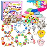 YOFUN Make Your Own Unicorn Clay Jewelry - Unicorn Craft Kits for Girls, Jewelry Making Kits for Children, Arts and Crafts for Kids Ages 8-12 and Up, Makes Tons of Unicorn Bracelets and Necklaces
