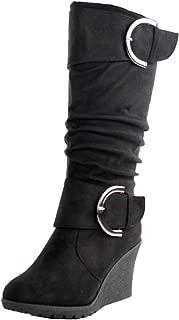 Best calf high wedge boots Reviews