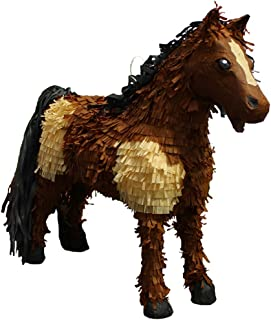Pinatas 3D Horse Party Game, Decoration & Photo Prop - Brown/Tan