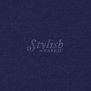 Navy Solid Poly Poplin Fabric By The Yard - 1 Yard