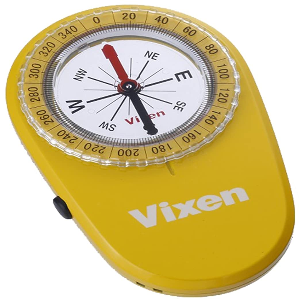 永久思慮のない服を着るVixen コンパス オイル式コンパス LEDコンパス イエロー 43022-2
