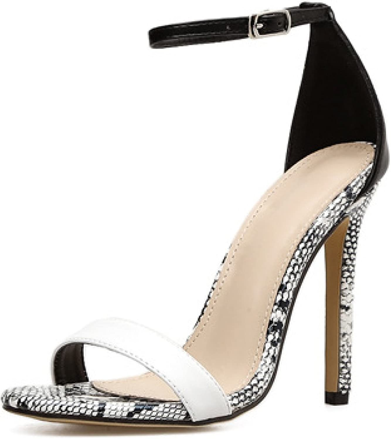 Women's High Heel Ankle Strap Barely There Pump Stiletto Sexy Dress Party shoes,Black-EU 35=5.5B(M) US