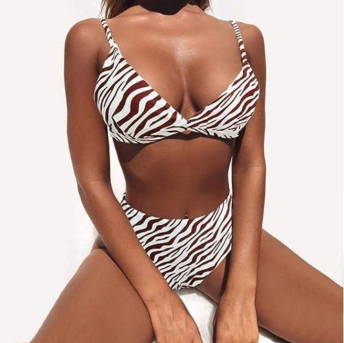 Femmes Bikini Set Sexy Serpent Léopard Imprimer Bikini Enveloppé Poitrine Dame De Natation Maillot De Bain Femme Biquini Maillot De Bain