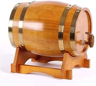 Tonneaux De Vin Ménagers Décoratifs Tonneau de vin en bois, Distributeur de fûts de whisky 15L Baril de stockage Baril de ...