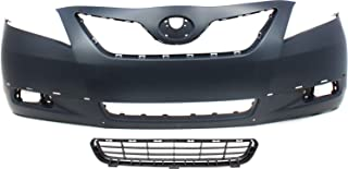 Bumper Cover Kit Compatible with Toyota Camry 2007-2009 Set of 2 With Front Bumper Cover and Grille Assembly SE Models USA Built