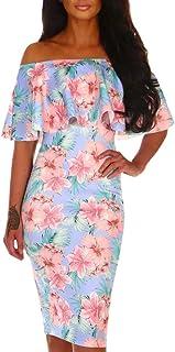 Vestido Ropa Mujer | Vestido Con Estampado Floral De Verano Sin Mangas De La Blusa De La Camisa Superior Ocasionales Con Cuello Redondo Fannyfuny
