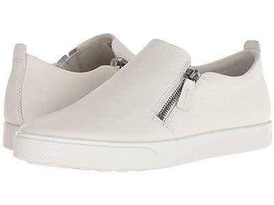 ECCO Gillian Side Zip (White Cow Leather) Women