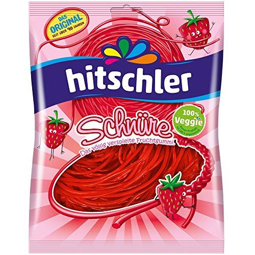 Hitschler Erdbeer Frucht Gummi Schnüre 125 g, 1er Pack (1 x 0.125 kg)
