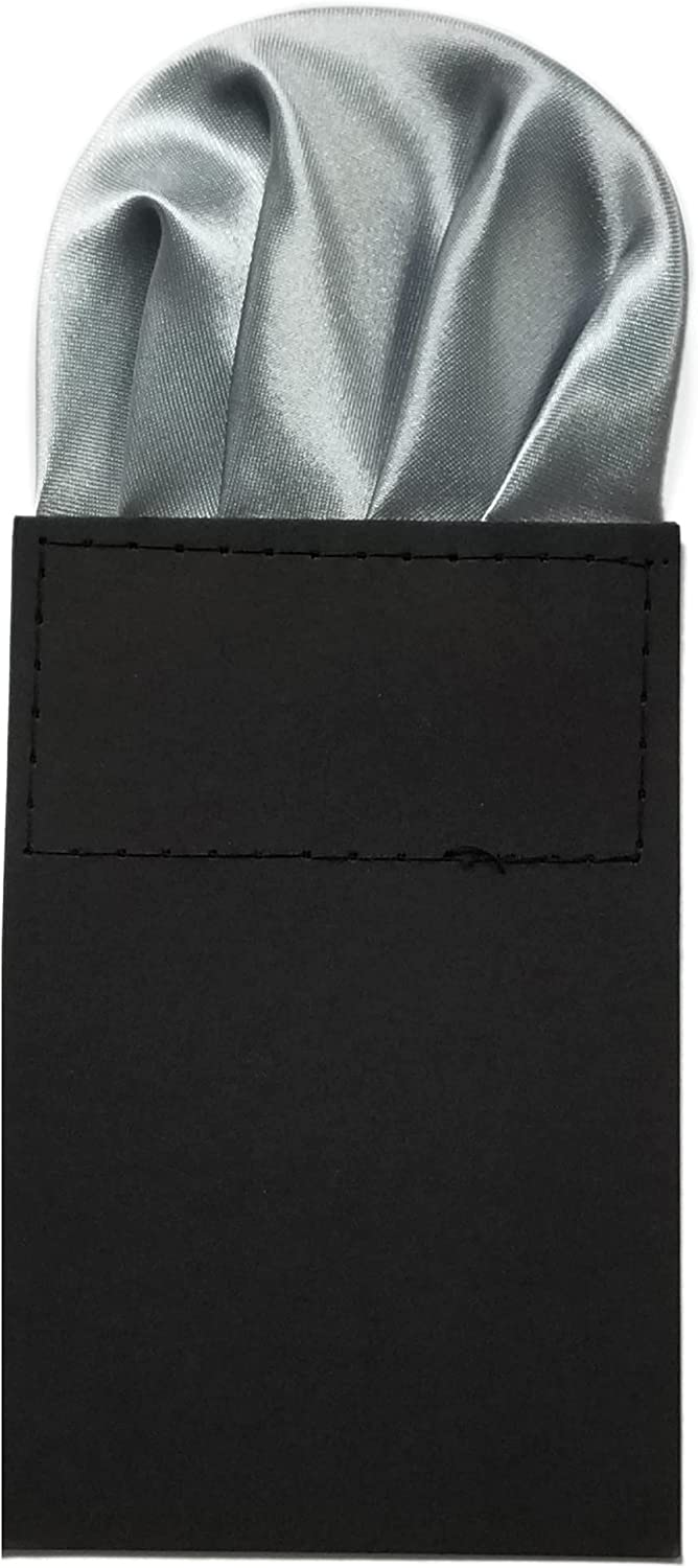 Men's Solid Color Puff Style Pre Folded Pocket Square on Card