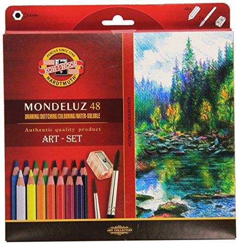 KOH-I-NOOR 3713 Lápices Mondeluz acuarela de colores - Surtido de Color (juego de 48)
