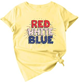 Meikosks Womens Fun Letter Printing T Shirt Short Sleeve Crewneck Tops Summer Casual Blouse