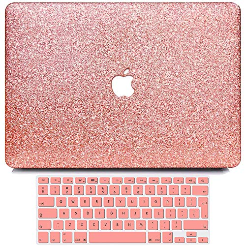 Belk Case Compatible with MacBook Pro 13 Inch 2020-2016 Release A2338 M1 A2289 A2251 A2159 A1989 A1708 A1706, Smooth Hard Case & Keyboard Protector for Pro 13.3 with Touch Bar, Shiny Rose Gold